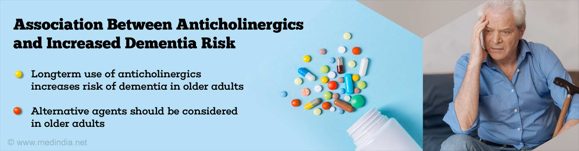 association between anticholinergics and increases dementia risk