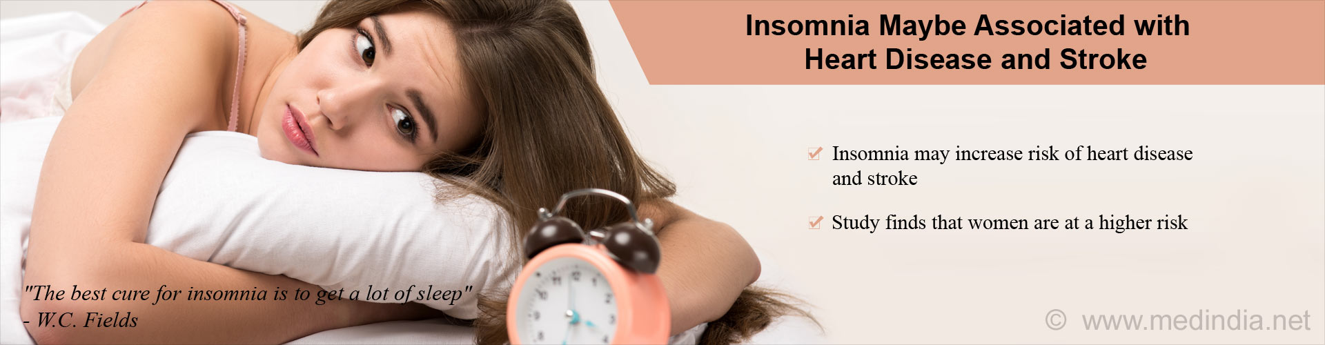 Insomnia Increases Risk of Heart Diseases, Stroke