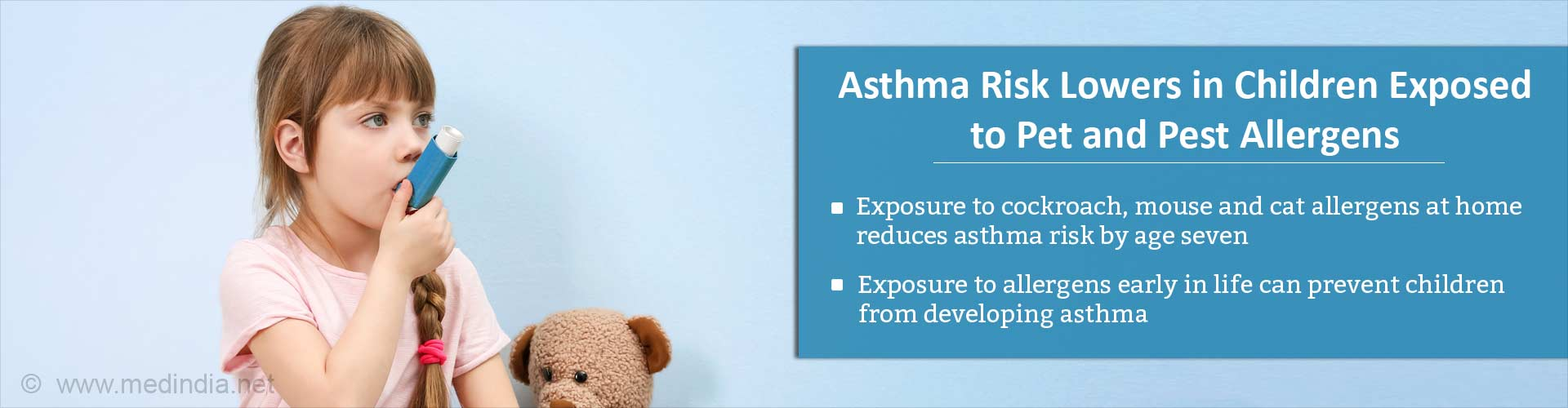 Early Exposure to Pet and Pest Allergens Lower Asthma Risk