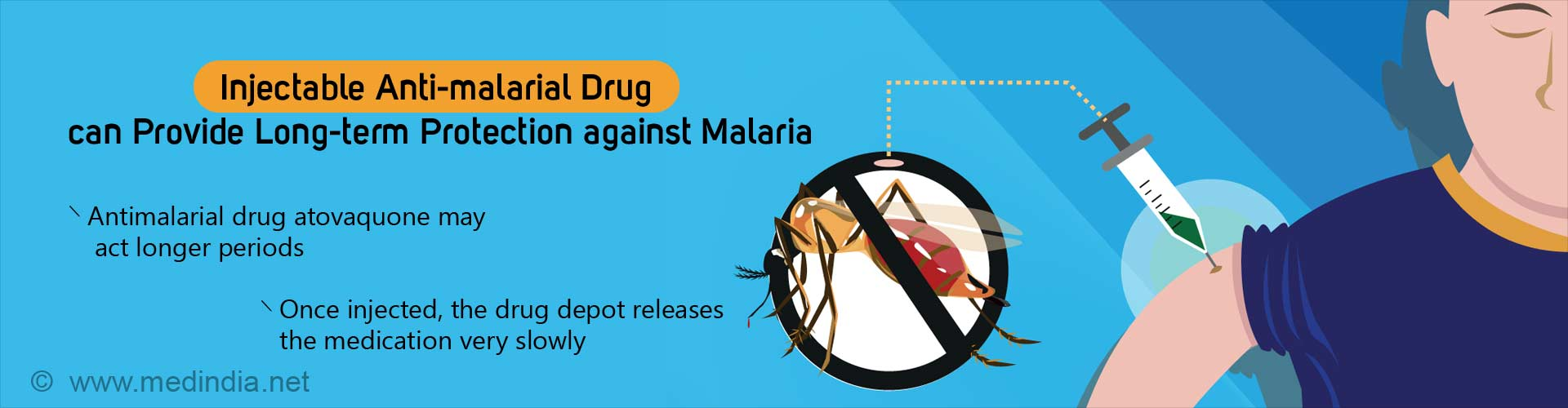 injectable anti-malarial drug can provide long-term protection against malaria