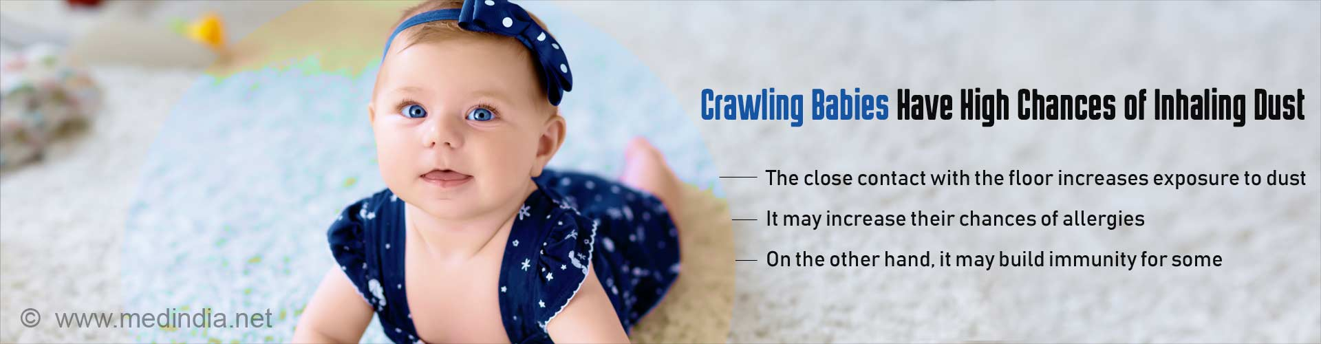Babies Inhale Four Times More Dust From The Floor