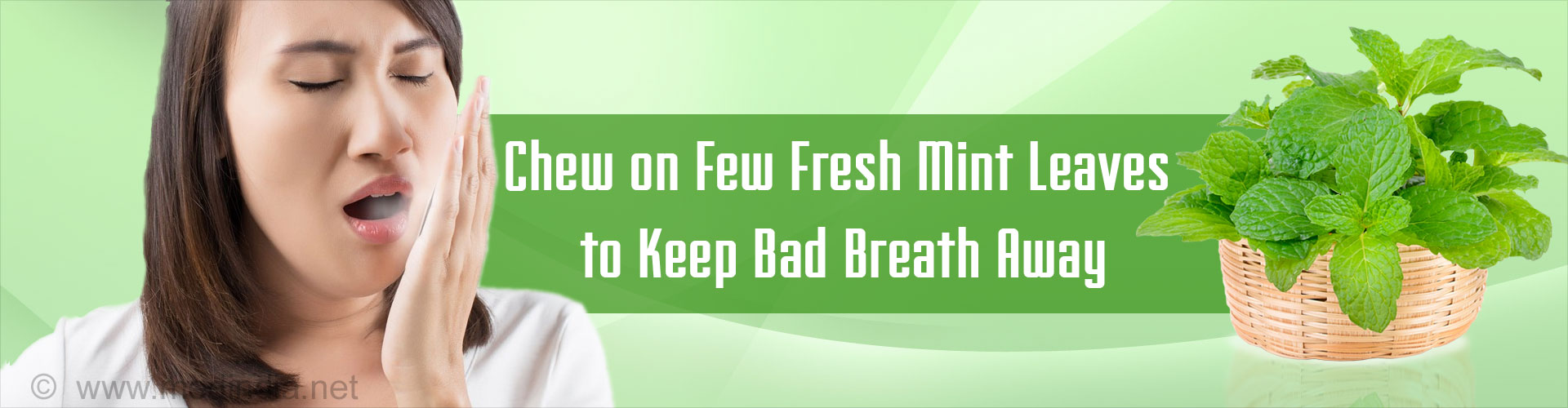 Chew on Few Fresh Mint Leaves to Keep Bad Breath Away