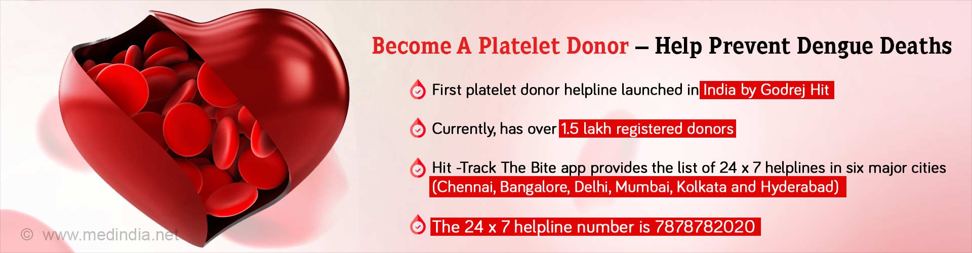 First Ever Platelet Donor Helpline in India