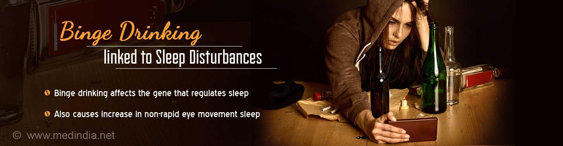 Binge Drinking may Cause Sleep Disturbances