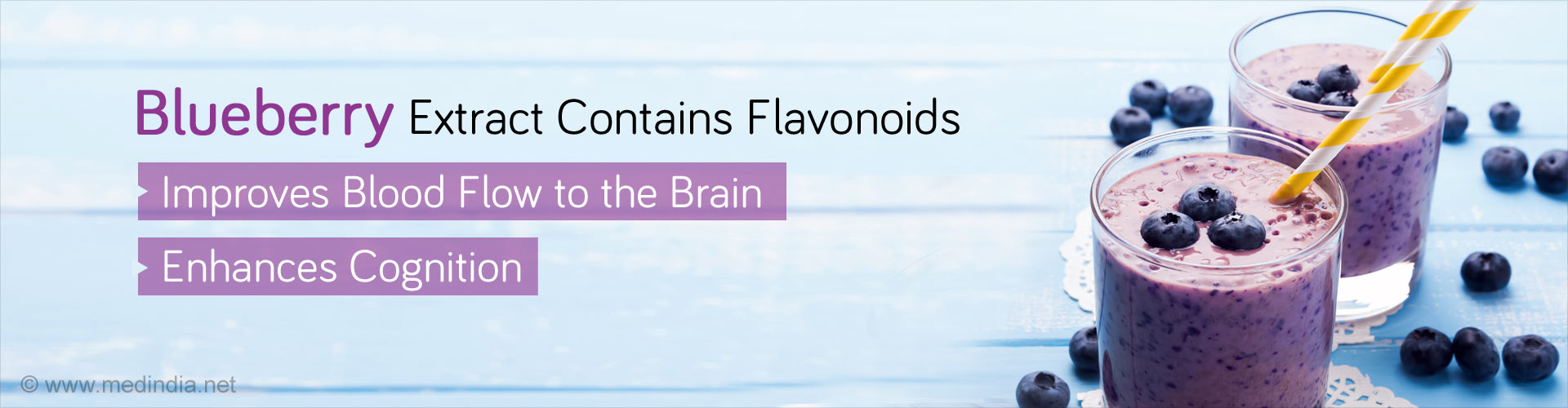 Blueberry extract contains flavonoids