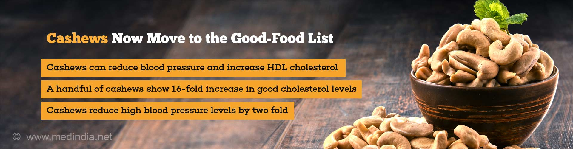 Cashews NO More Considered Unhealthy: Improve Good Cholesterol Levels