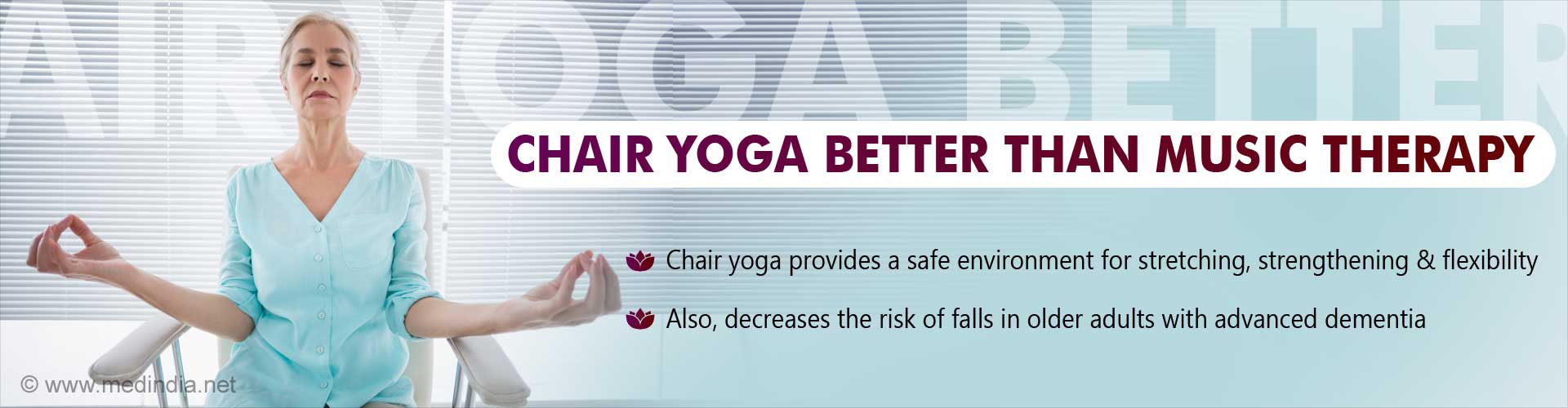 Chair Yoga Reduces Risk of Falls in Older Adults