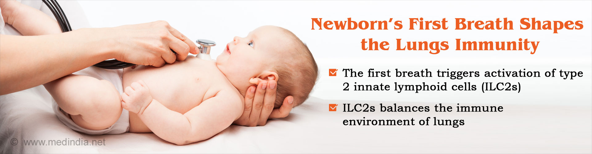 Newborn's first breath shapes the lungs immunity
