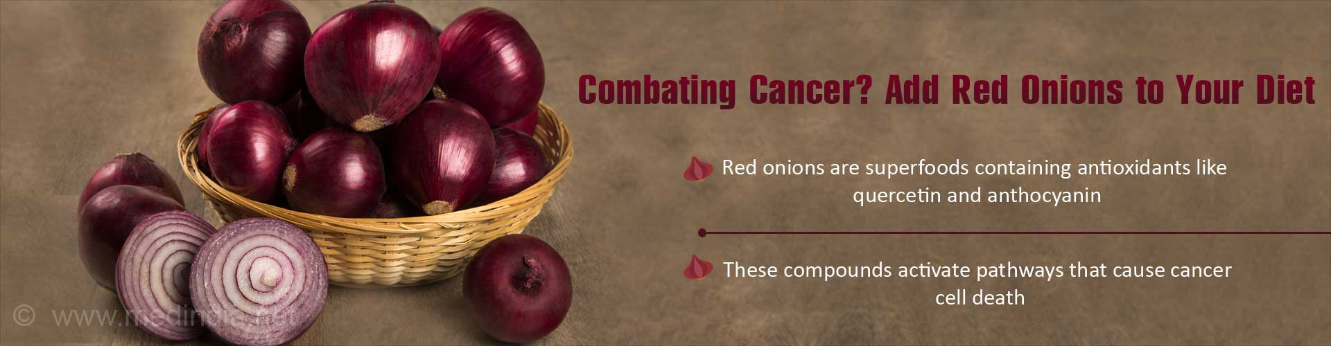 Red Onions may Help Fight Cancer Cells