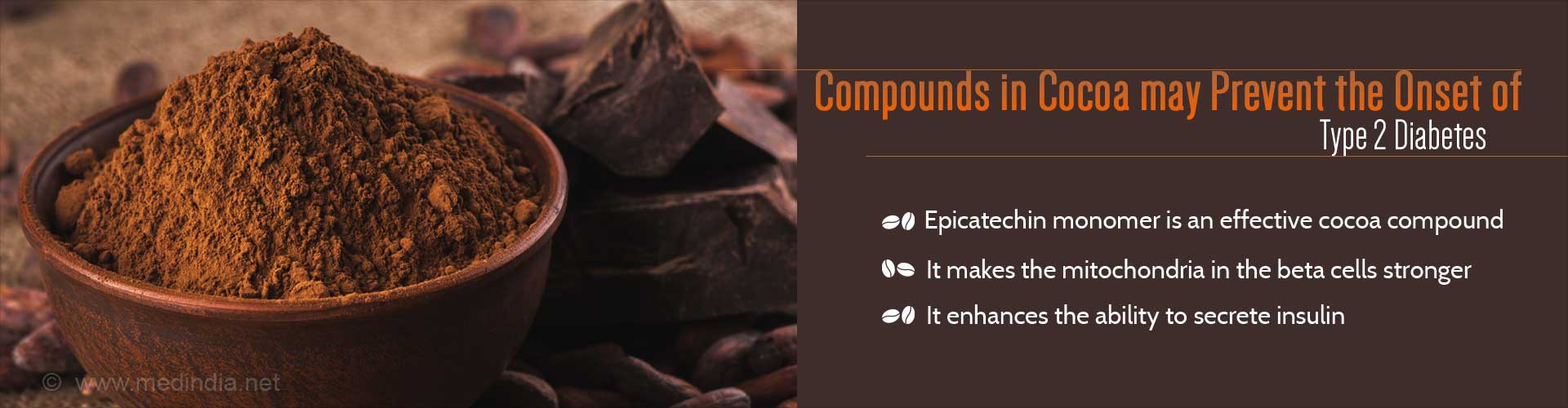 Compounds in cocoa may prevent the onset of Type 2 diabetes