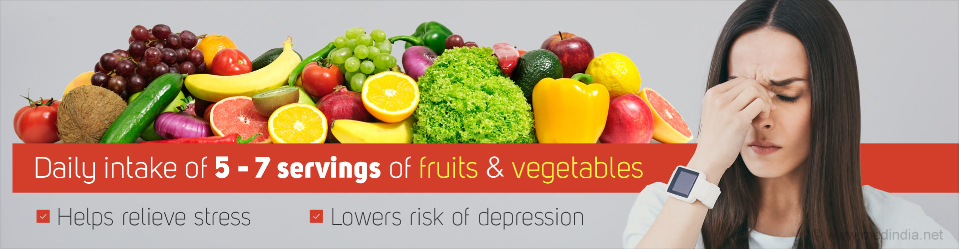 Daily intake of 5-7 servings of fruits & vegetables
