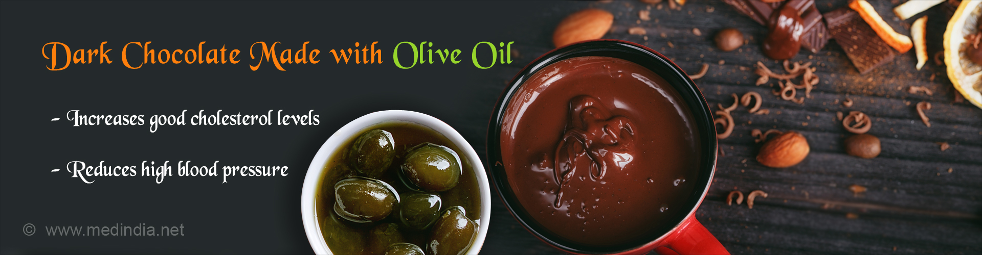 Dark Chocolate With Olive Oil Increases Good Cholesterol