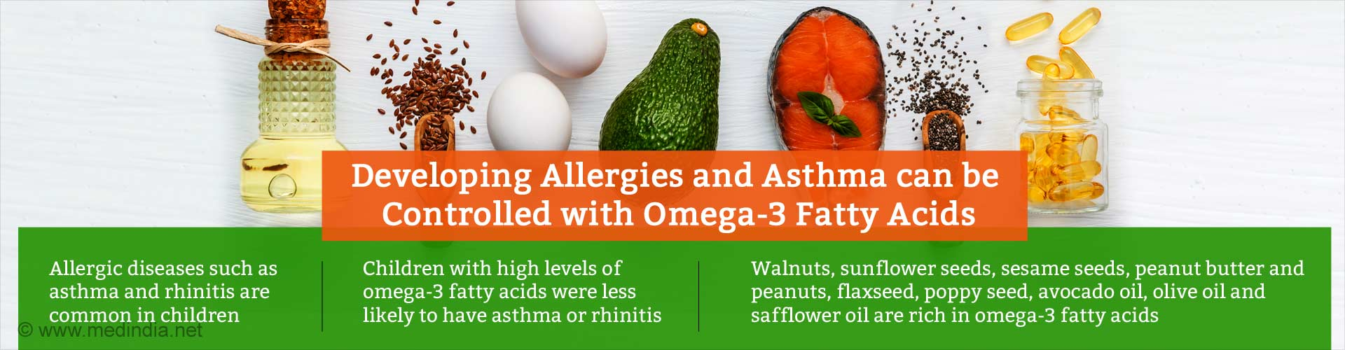 Developing Allergies and Asthma can be Controlled with Omega-3 Fatty Acids