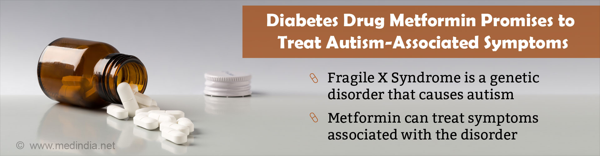 Diabetes Drug Metformin can Treat Symptoms of Autism-Associated Condition