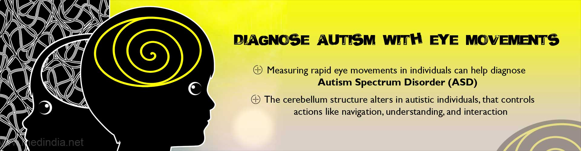 Diagnose autism with eye movements