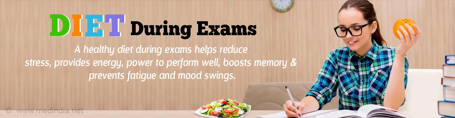 Win Over Exam Stress with a Healthy Diet
