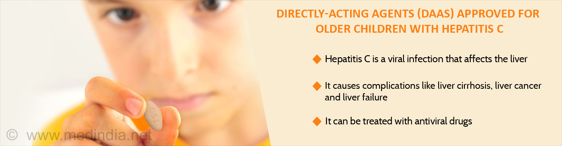 Directly-acting agents (DAAS) approved for older children with hepatitis C
