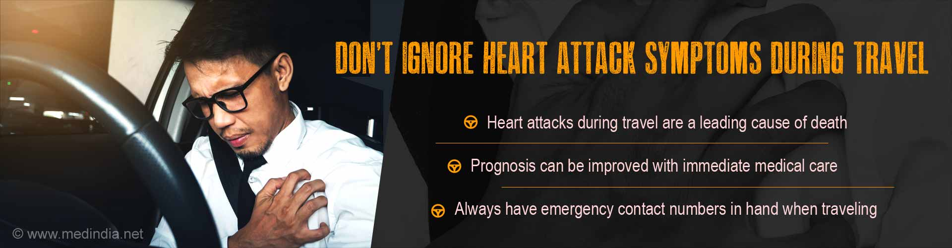 Heart Attack Symptoms Should Not Be Ignored While Traveling