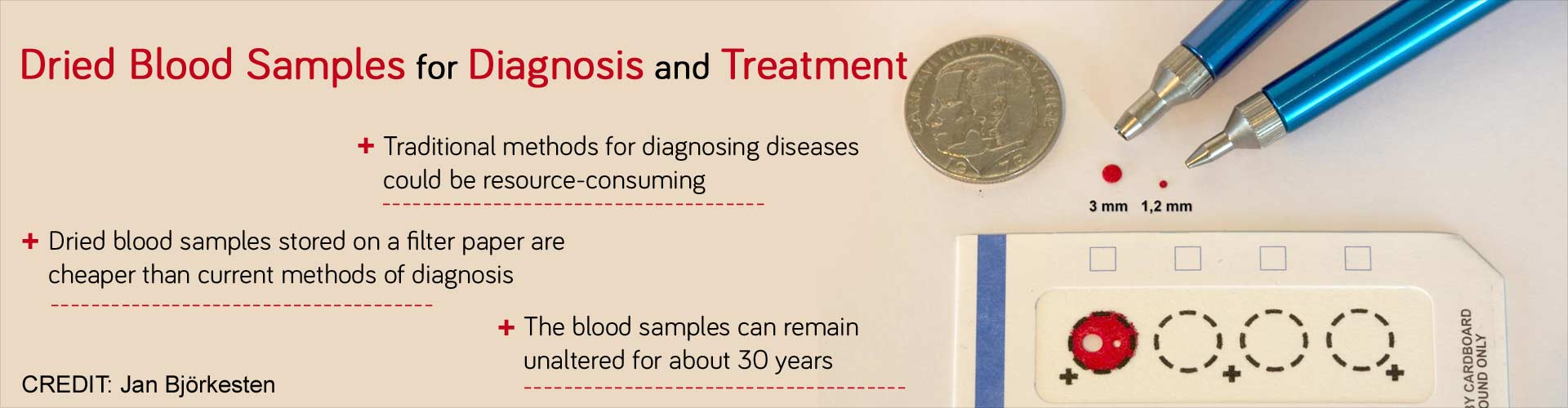 Dried blood samples for diagnosis and treatment