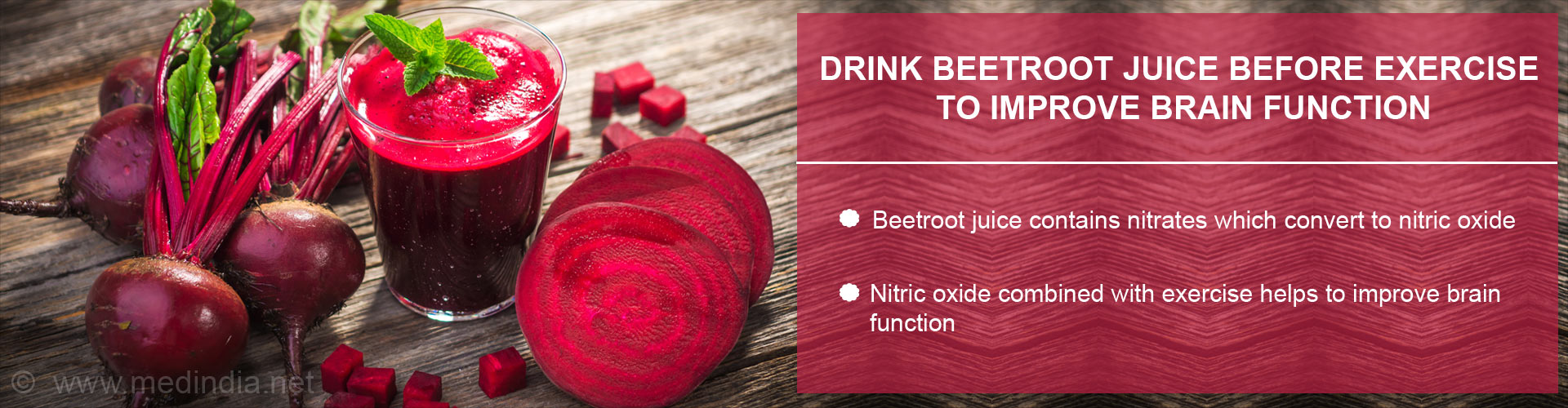 Drink beetroot juice before exercise to improve brain function