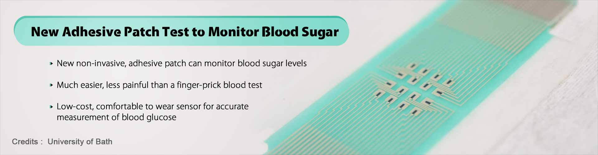 Easy Way to Monitor Blood Sugar Using Adhesive Patch Test for Diabetes