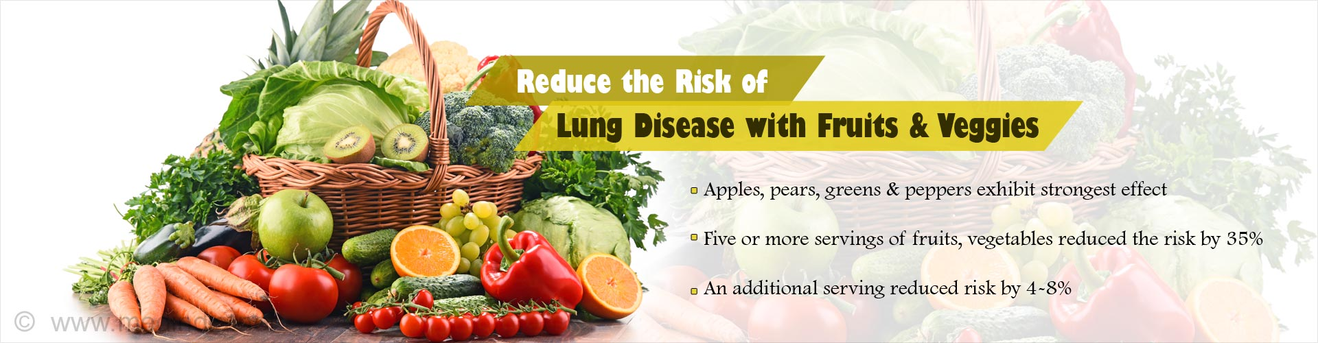 Eating 5 or More Serving Of Fruits & Vegetables Reduces Risk of Lung Disease