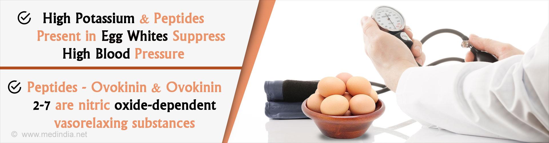 Peptides present in egg whites suppress high blood pressure