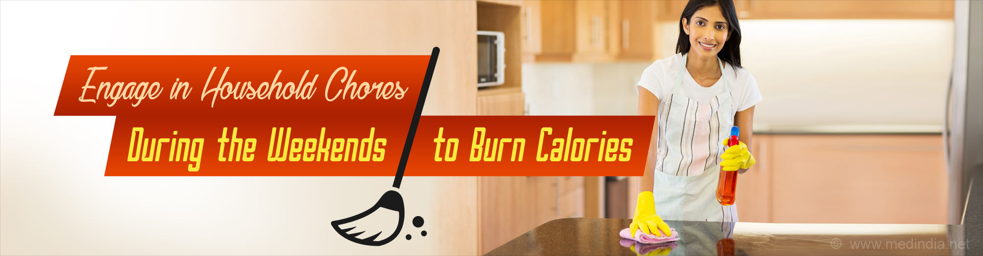 Engage in Household Chores During the Weekends to Burn Calories