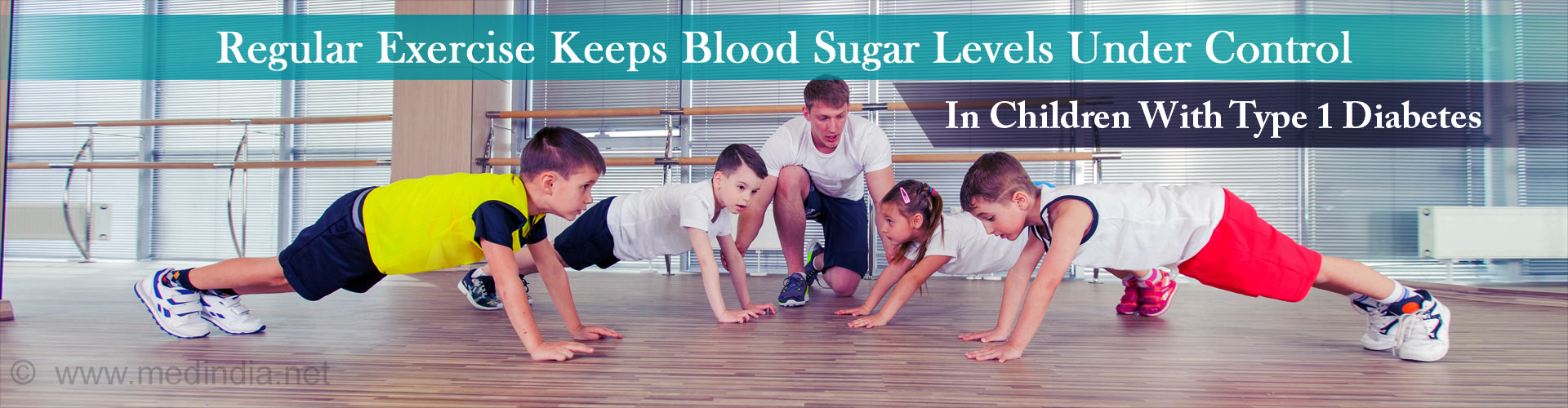 Regular exercise keeps your blood sugar level under control