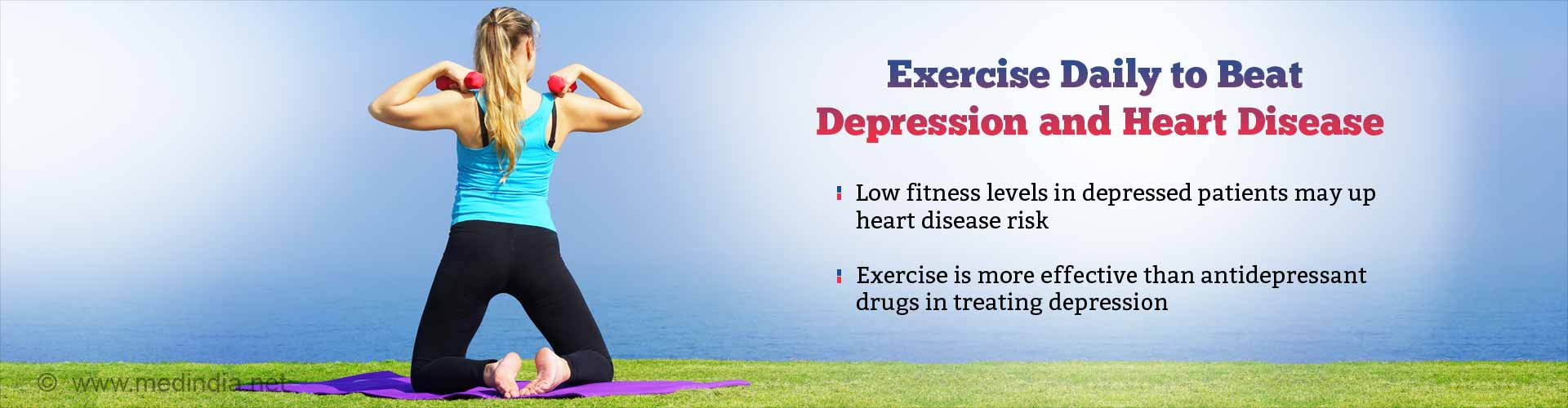 Regular Exercise in Patients With Depression Reduces Risk of Heart Disease