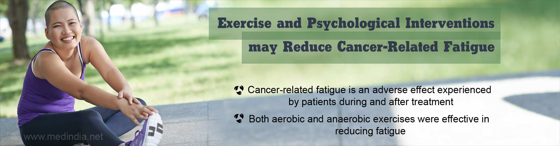 Exercise Helps Cancer Patients Deal With Fatigue