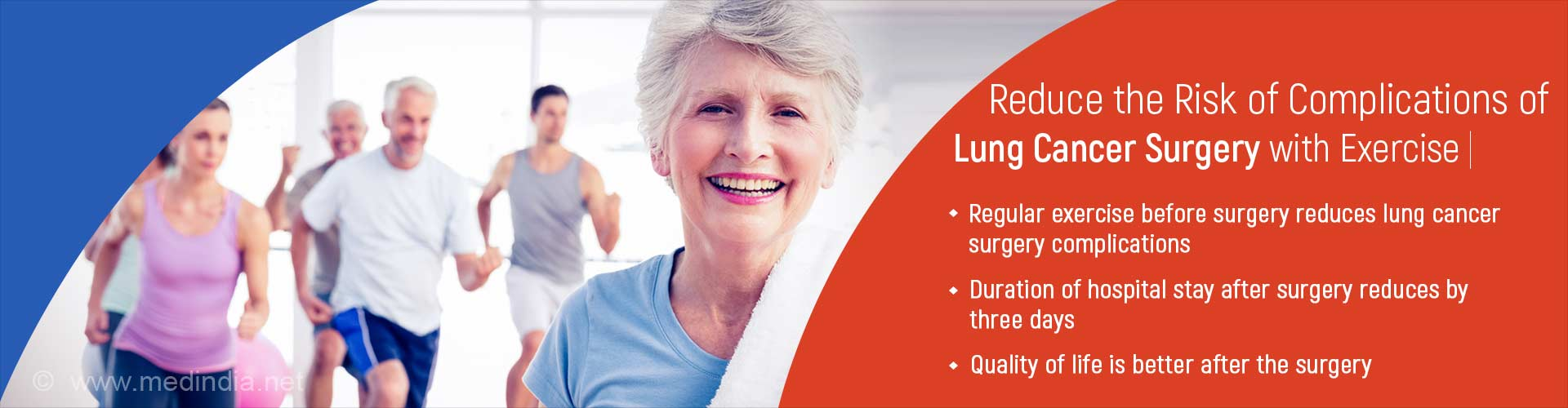 reduce the risk of complications of lung cancer surgery with exercise