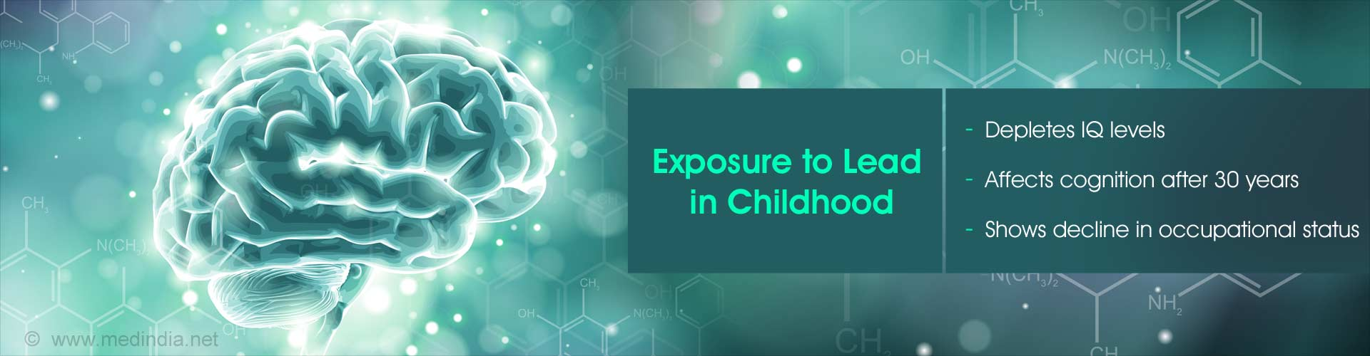 Exposure to lead in childhood