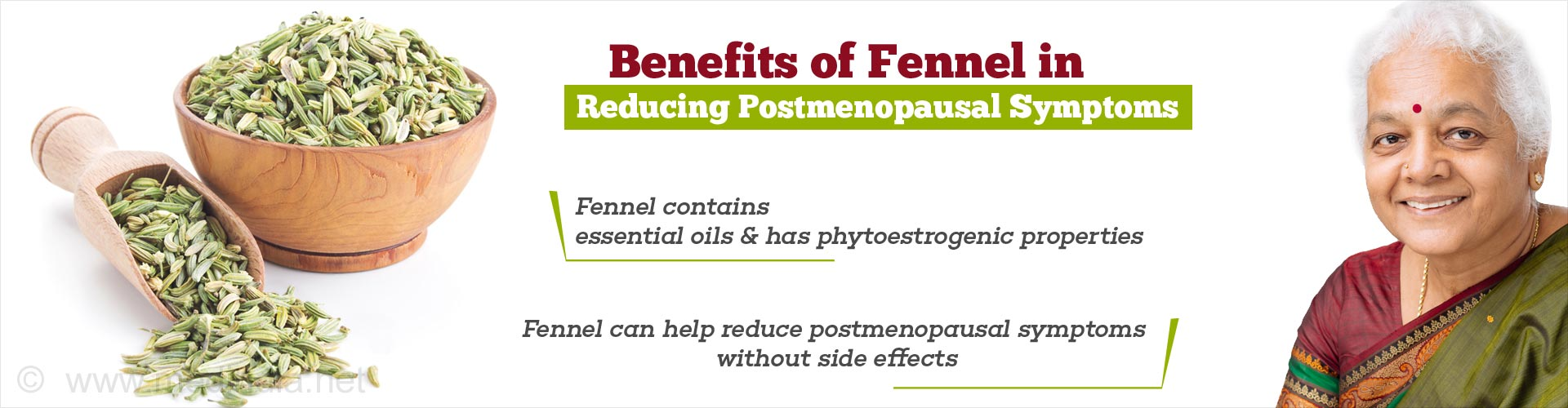 Benefits of Fennel in Reducing Postmenopausal Symptoms