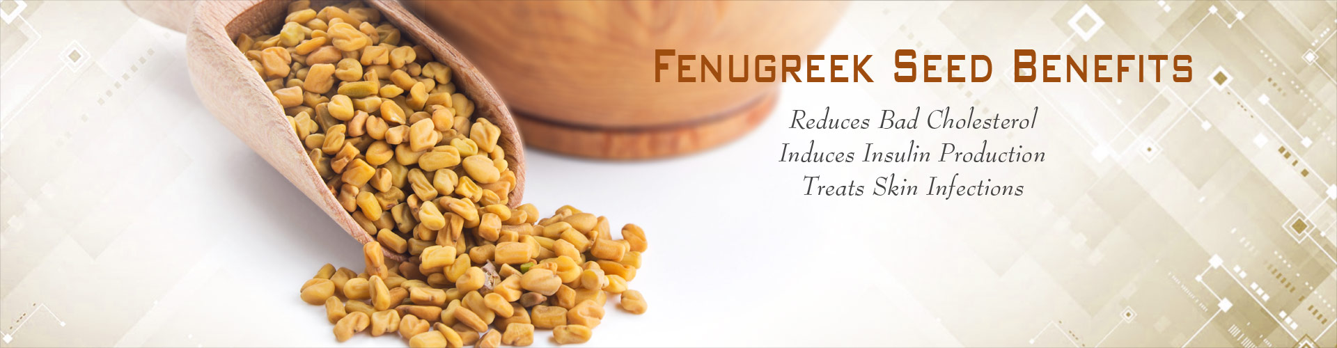 Fenugreek Seed Benefits - Reduces Bad Cholestrol, Induces Insulin Production, Treats Skin Infections