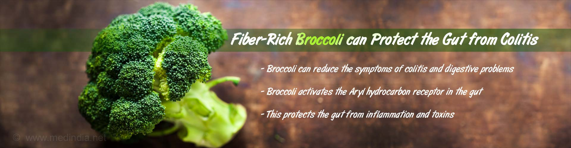 Fiber-rich broccoli can protect the gut from colitis