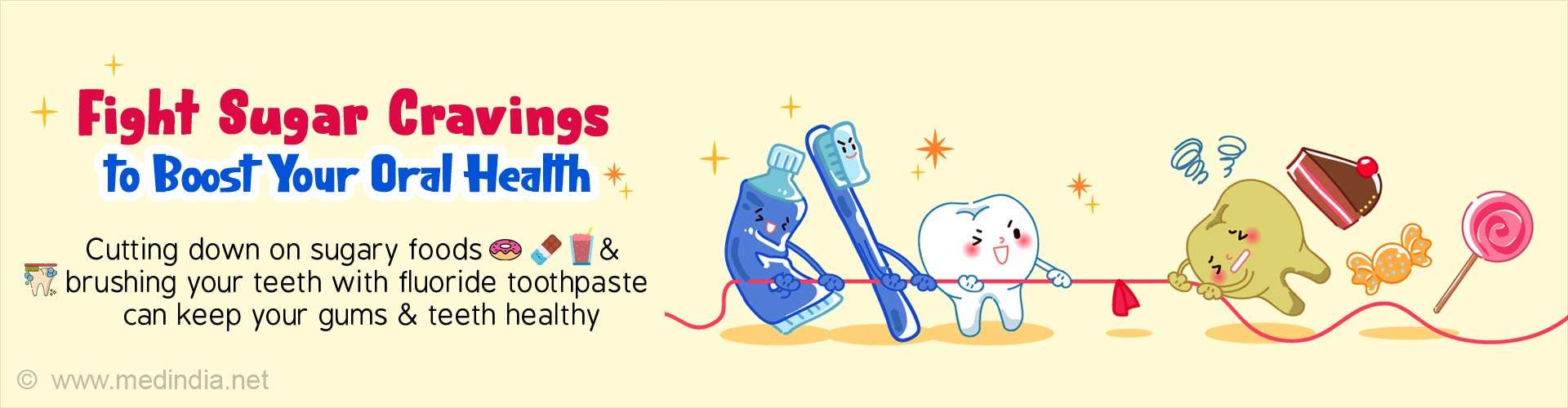Fight sugar cravings to boost your oral health. Cutting down on sugary foods and brushing your teeth with fluoride toothpaste can keep your gums and teeth healthy.
