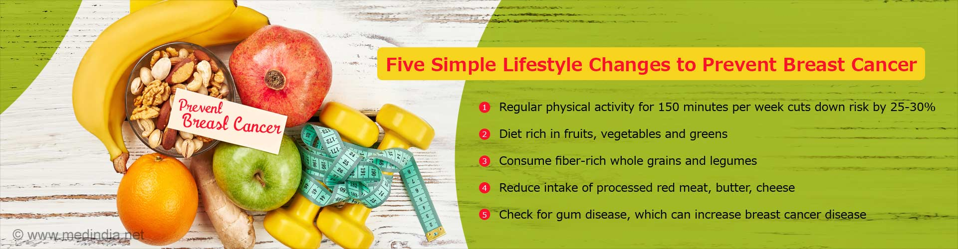 Five Simple Lifestyle Changes To Prevent Breast Cancer