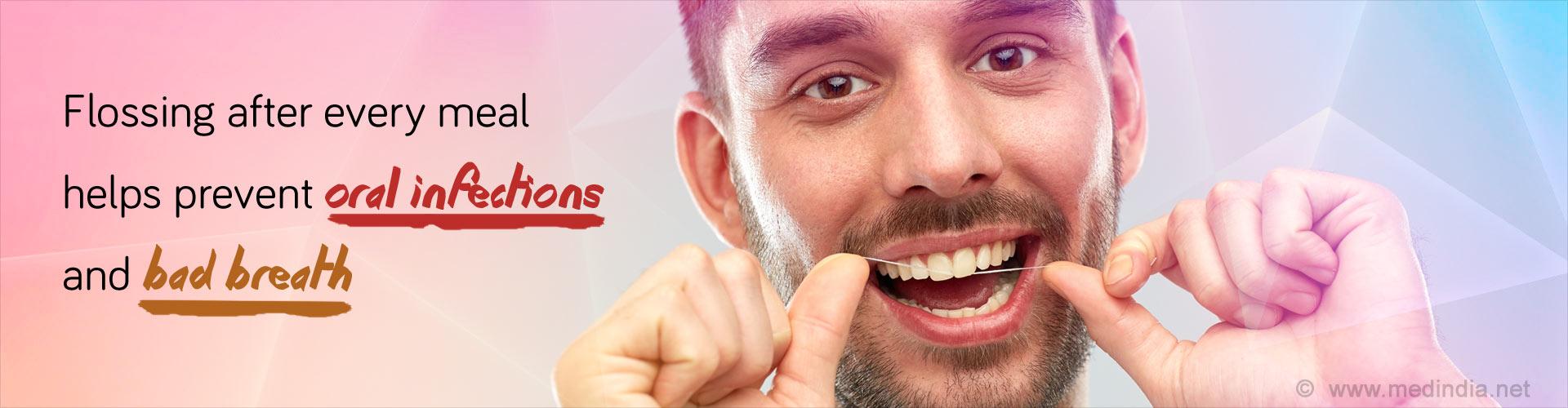 Flossing of Teeth