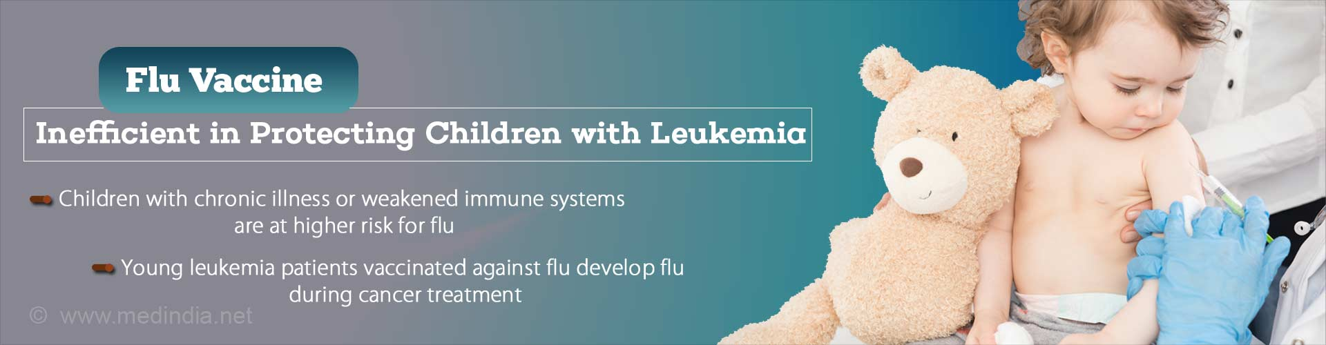 Flu vaccine inefficient in protecting children with leukemia