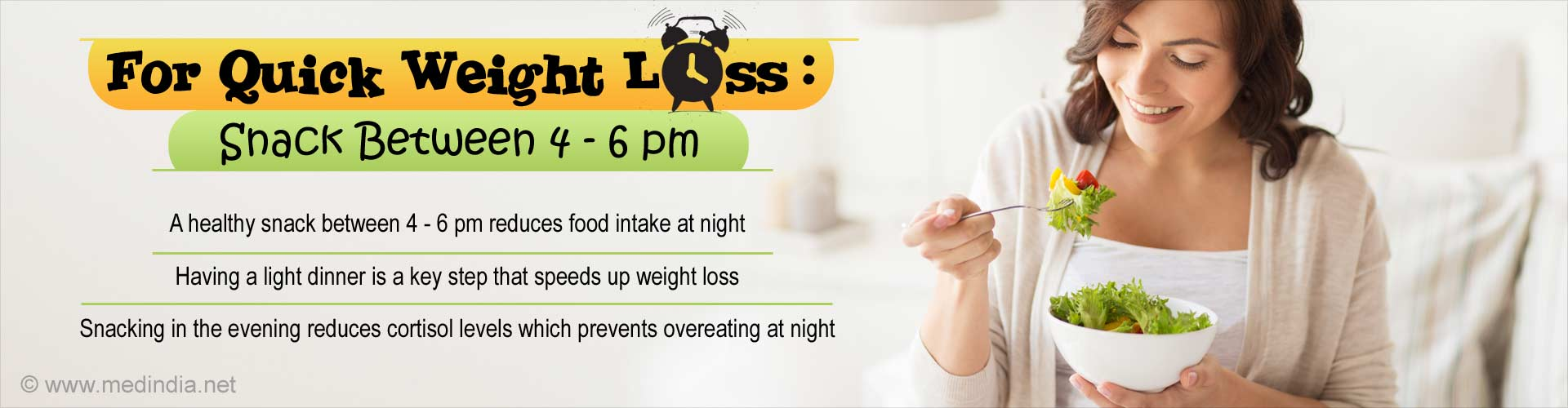 Simple To Do Weight Loss Tip: Have a Snack Between 4 - 6 Pm