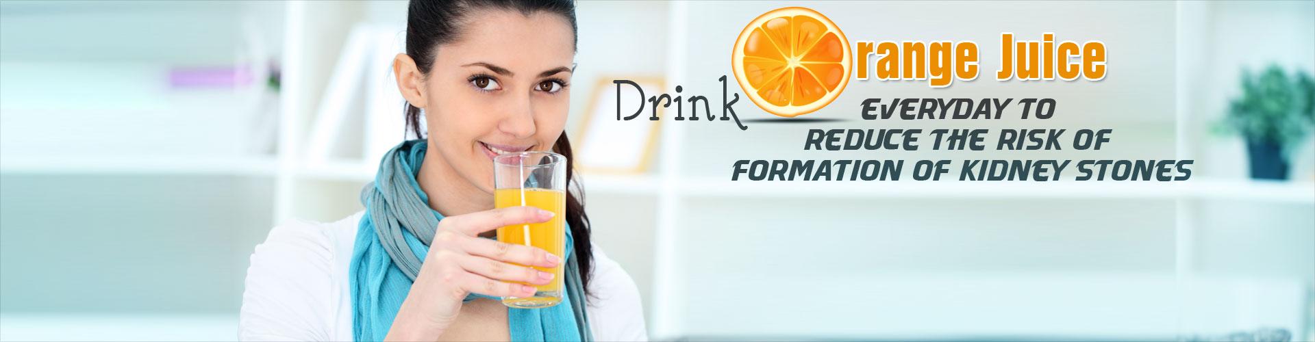 Drink Orange Juice Everyday to Reduce Risk of Kidney Stones