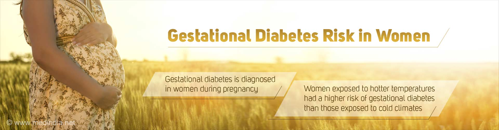 Gestational diabetes risk in women
