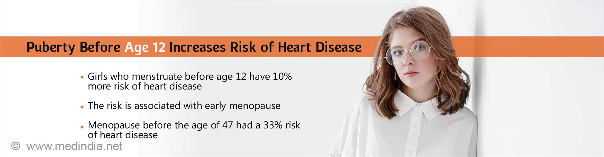 Puberty before age 12 increases risk of heart disease