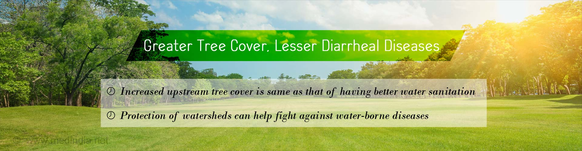 Greater Tree Cover can Lessen Diarrheal Diseases in Children
