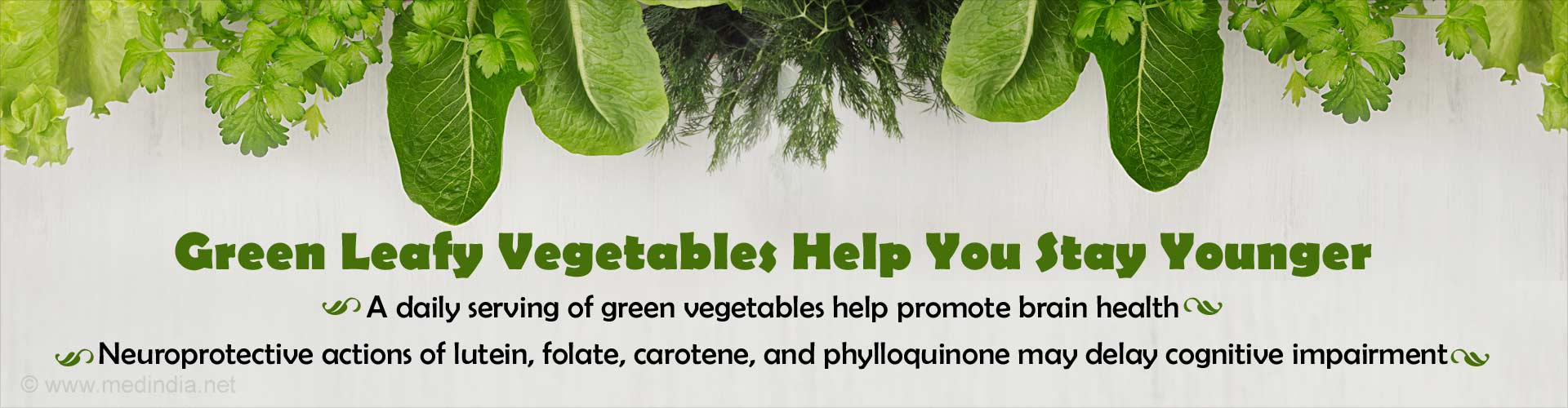 Daily Serving of Green Leafy Vegetables Keep You 11 Years Younger