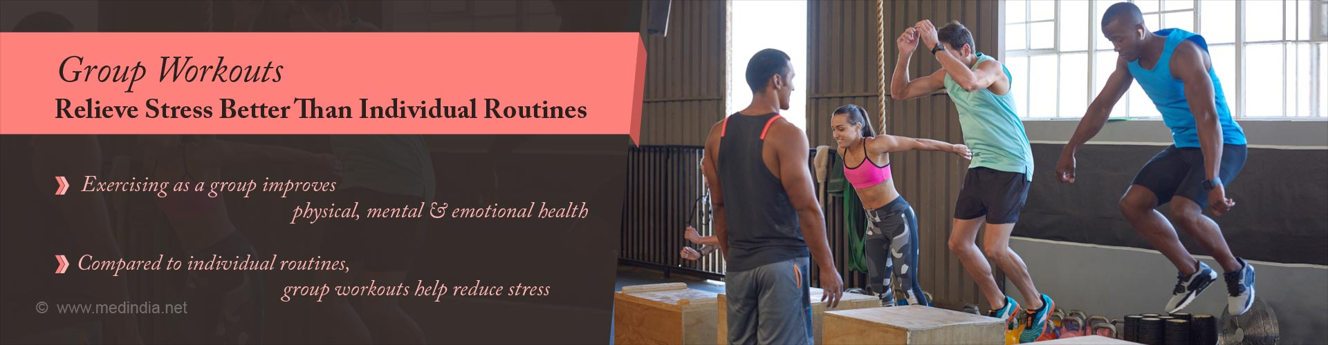 group workouts relieve stress better than individual routines