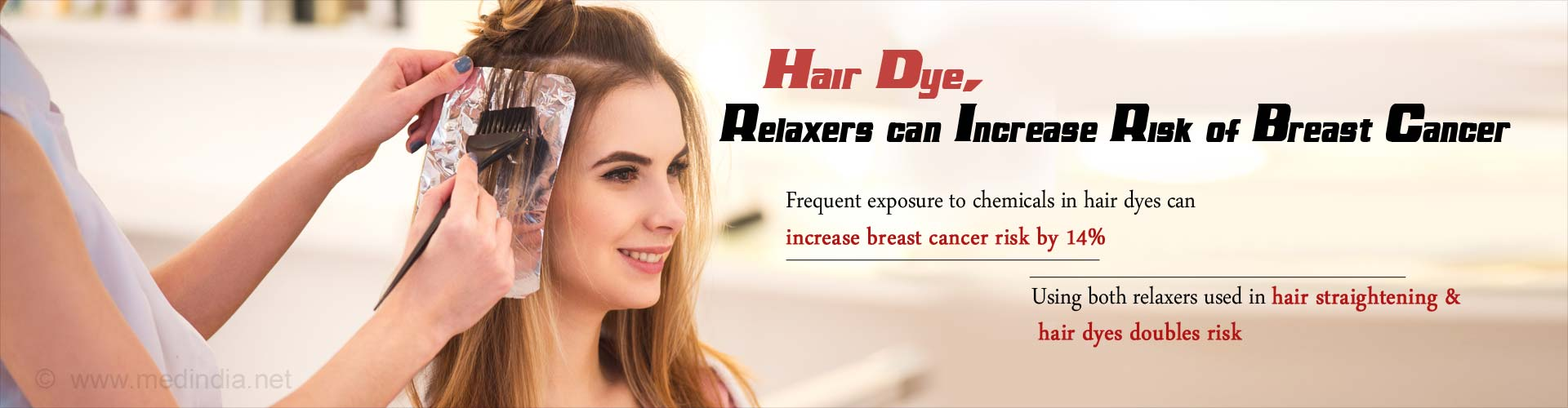 Hair dye, relaxers can increase risk of breast cancer
