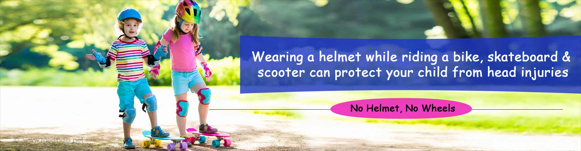 Wearing a Helmet When on Wheels Can Protect Kids from Head Injuries