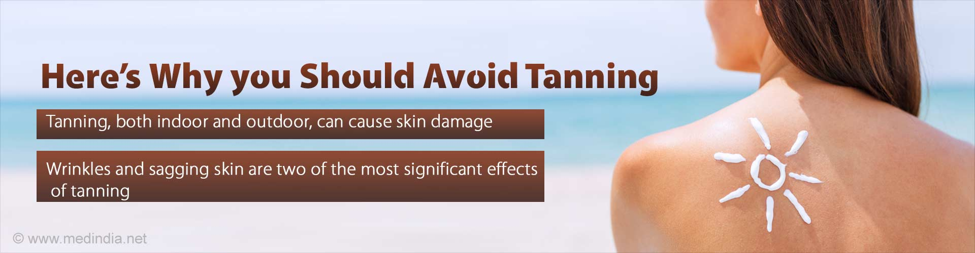 Here's why you should avoid tanning